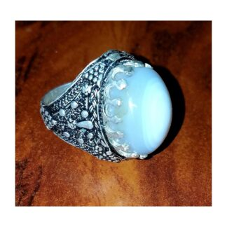 Yemeni Agate silver ring